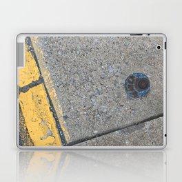 Blue Water Yellow Line Laptop & iPad Skin