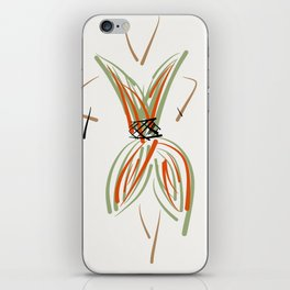 The green-red fall dress iPhone Skin