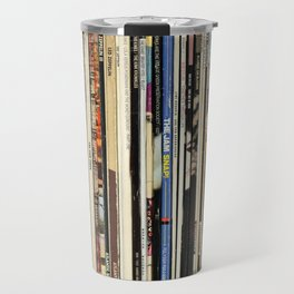 Classic Rock Vinyl Records Travel Mug