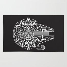 Millennium Falcon Mandala Illustration Rug
