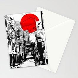 Tokyo street sunrise Stationery Cards