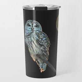 Owl, See the Moon (sq) Travel Mug