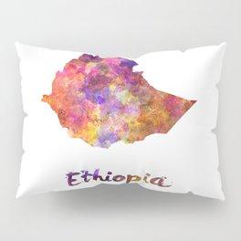 Ethiopia in watercolor Pillow Sham
