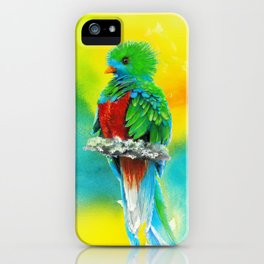 Quetzal - the most beautiful bird iPhone Case