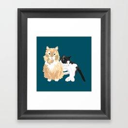 BJ and Tigger Framed Art Print