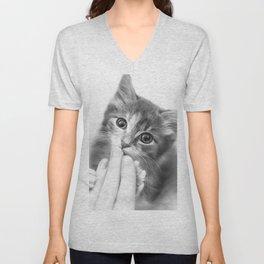 Kitten Kisses Unisex V-Neck