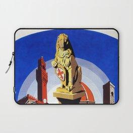 Florence Firenze travel, lion statue Laptop Sleeve
