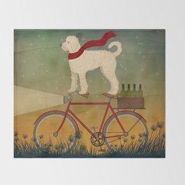 Doodle Bike Throw Blanket