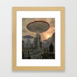 MUSHROOM KINGDOM (everyday 03.22.19) Framed Art Print