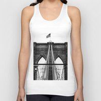 brooklyn bridge Tank Tops featuring Brooklyn Bridge by Graham Dunk