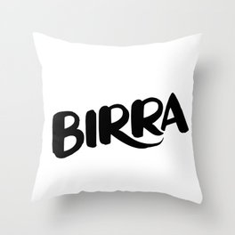 Birra Throw Pillow