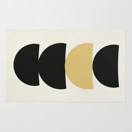 Crescents (Black and Mustard) Rug