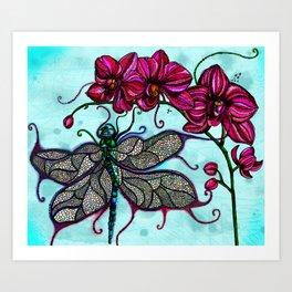 Dragonfly Ball Art Print