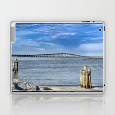 Bridge to sand and sea Laptop & iPad Skin
