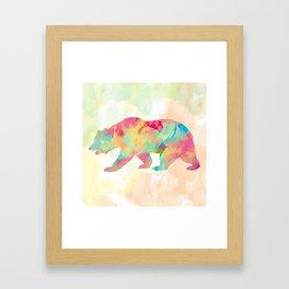 Abstract Bear Framed Art Print