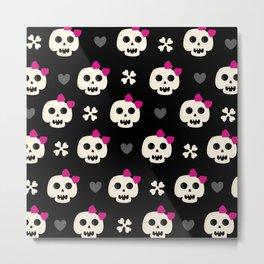Skully Girl Metal Print