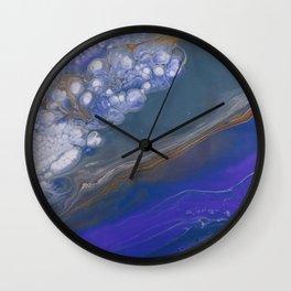 Deep Blue feat White Cells Wall Clock