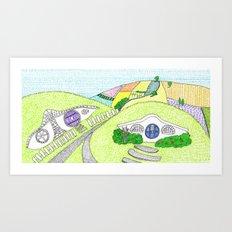 Hobbiton  Art Print