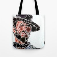 cowboy Tote Bags featuring Cowboy by Cesar Peralta