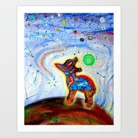 Coyote Dorado Art Print