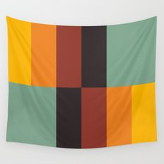 Stripes and swatches Wall Tapestry