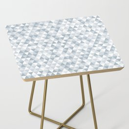 shades of ice gray triangles pattern Side Table