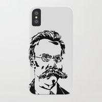 nietzsche iPhone & iPod Cases featuring Friedrich Nietzsche by Joshua M. Paschal