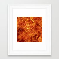 pentagram Framed Art Prints featuring PENTAGRAM by JYELtheREAL-ADHDninja