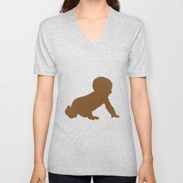 Baby Crawling Unisex V-Neck