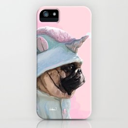 Unicorn Pug Art iPhone Case