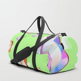Tropical fish lime edition Duffle Bag