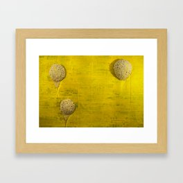 YellowBackdrop Framed Art Print