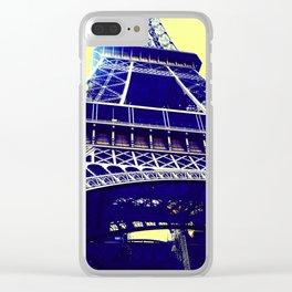 Eiffel Tower Pop Art Clear iPhone Case