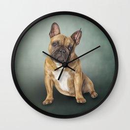 Drawing dog French Bulldog Wall Clock