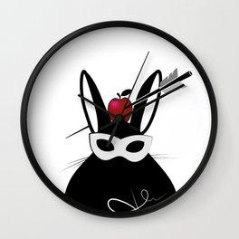 cute rabbit with Apple Wall Clock