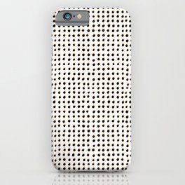 Dots (Shadowed) - Black x Citrus iPhone Case