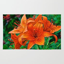 Orange Tiger Lilies - The Peace Collection Rug
