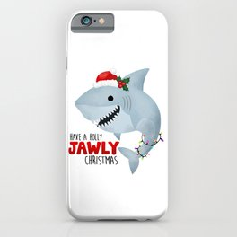 Have A Holly Jawly Christmas Shark iPhone Case
