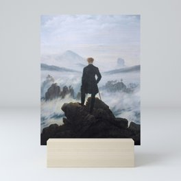 Wanderer above the Sea of Fog (High Resolution) Mini Art Print