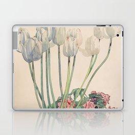 "Charles Rennie Mackintosh ""White tulips"" Laptop & iPad Skin"