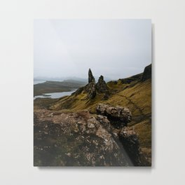 Old man of Storr isle of skye scotland landscape nature lake scottish Metal Print