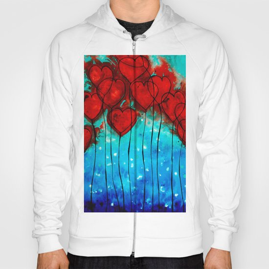 Hearts On Fire - Romantic Art By Sharon Cummings Hoody