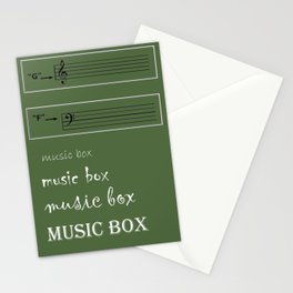 musicbox Stationery Cards