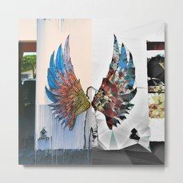 Glitched Angel Wings Metal Print
