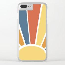 Desert Sun Ray Burst Clear iPhone Case