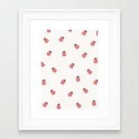 ladybug Framed Art Prints featuring ladybug by Georgiana Paraschiv