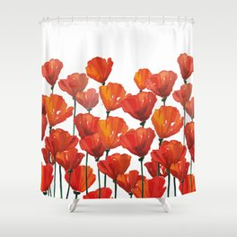 Poppies! Shower Curtain