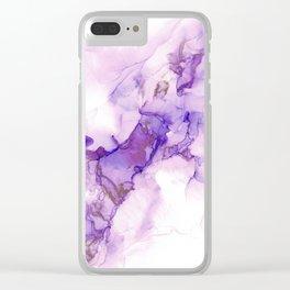 Purple Clouds Clear iPhone Case