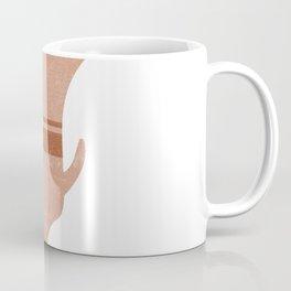 Minimal Abstract Greek Vase 13 - Calyx Krater - Terracotta Series - Modern, Contemporary Print Coffee Mug