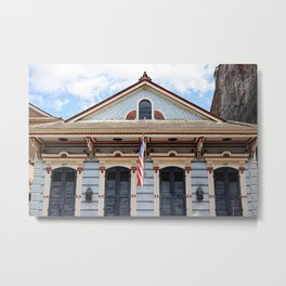 New Orleans American Creole Cottage Metal Print